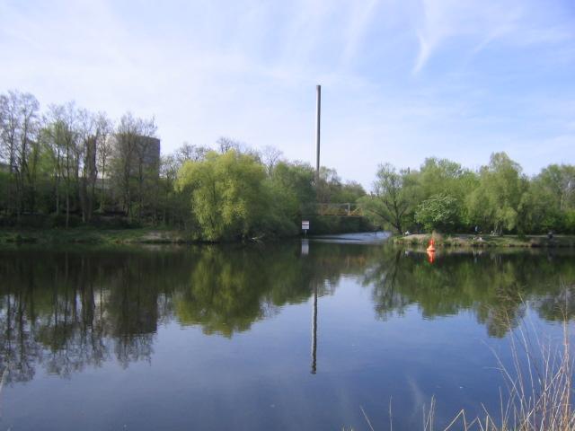 der Teltow- Kanal in Berlin...