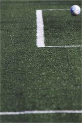 Der Torraum und ein Ball