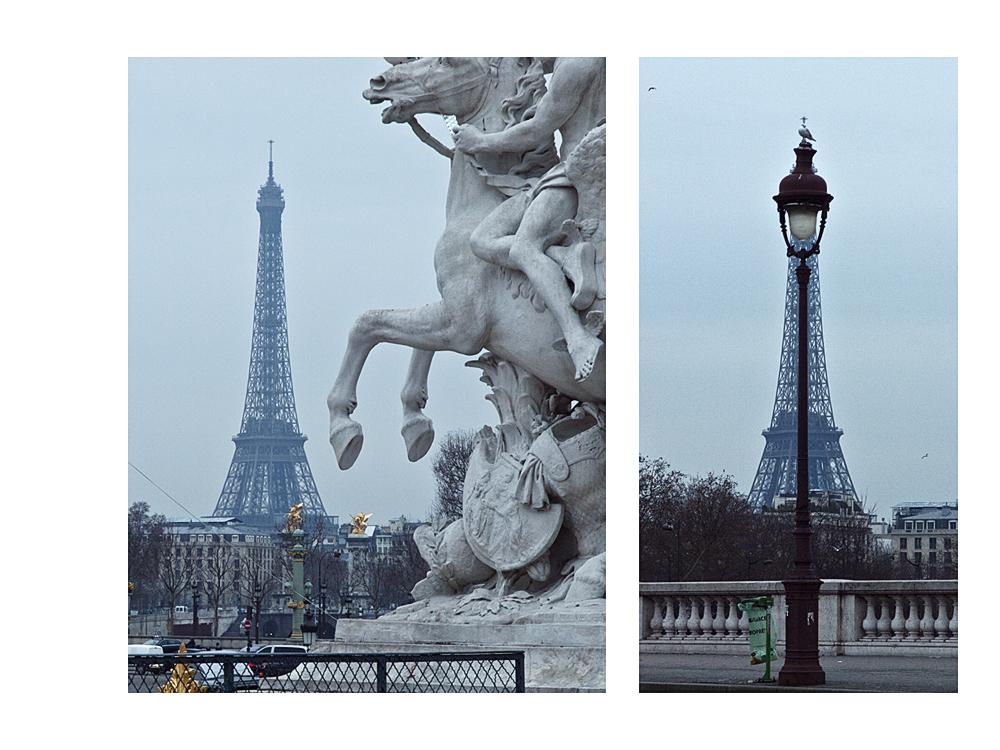 der Tour Eiffel: auch hier ist öfter mal was im Weg
