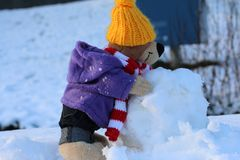 Der Tourist im Schnee.............