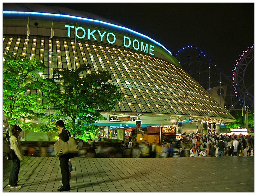 Der Toyko Dome nach dem Baseballspiel