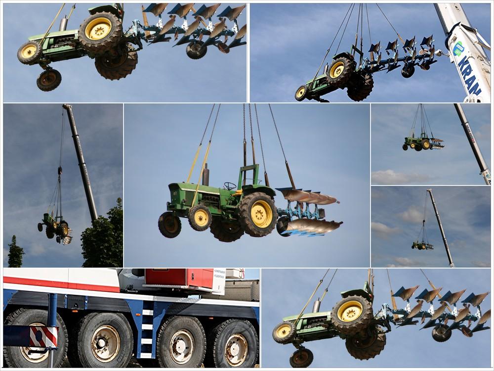 Der Traktor fliegt