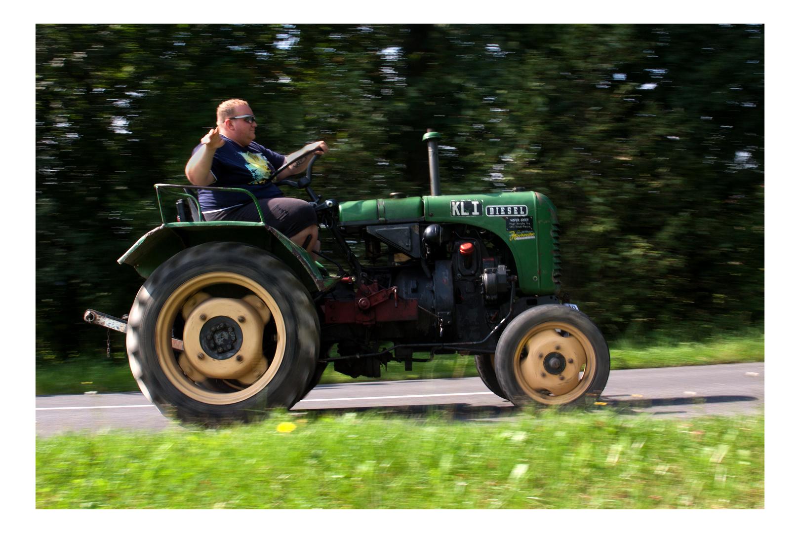 Der Traktor ist bald zu klein