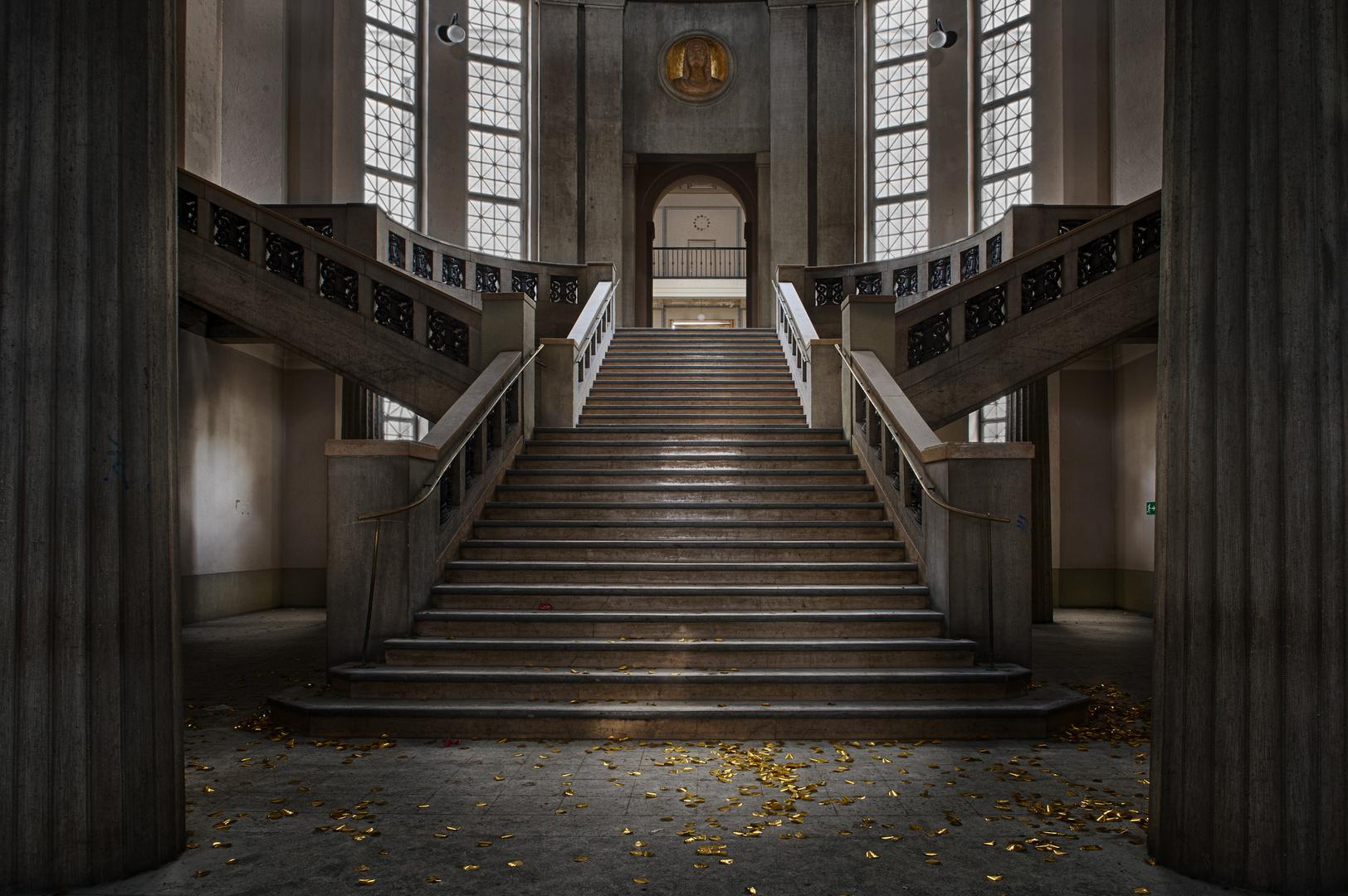 Der Treppenaufgang ....