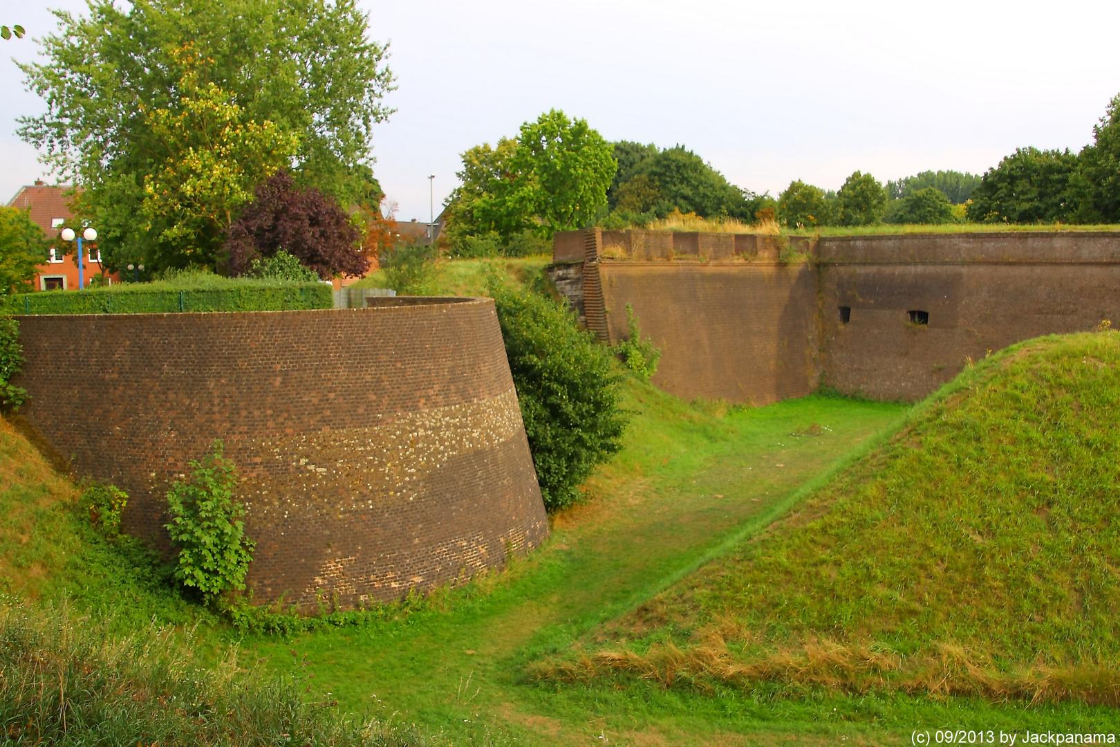 Der Übergang der Tenaille auf die Bastion in der Zitadelle in Wesel
