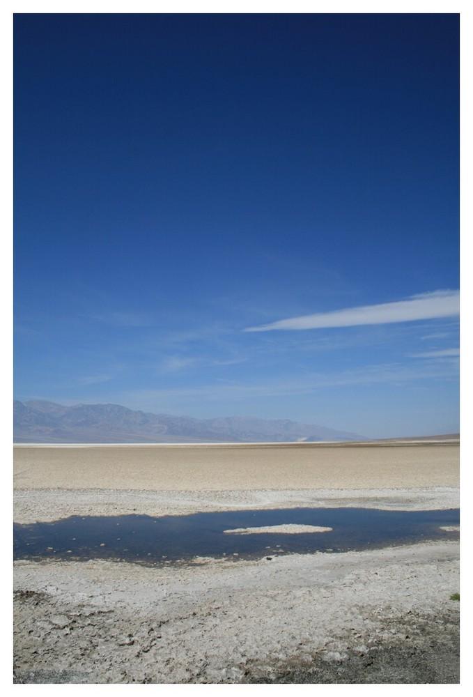 Der Überrest des einstigen Salz-Sees (eher Salz-Pfütze)