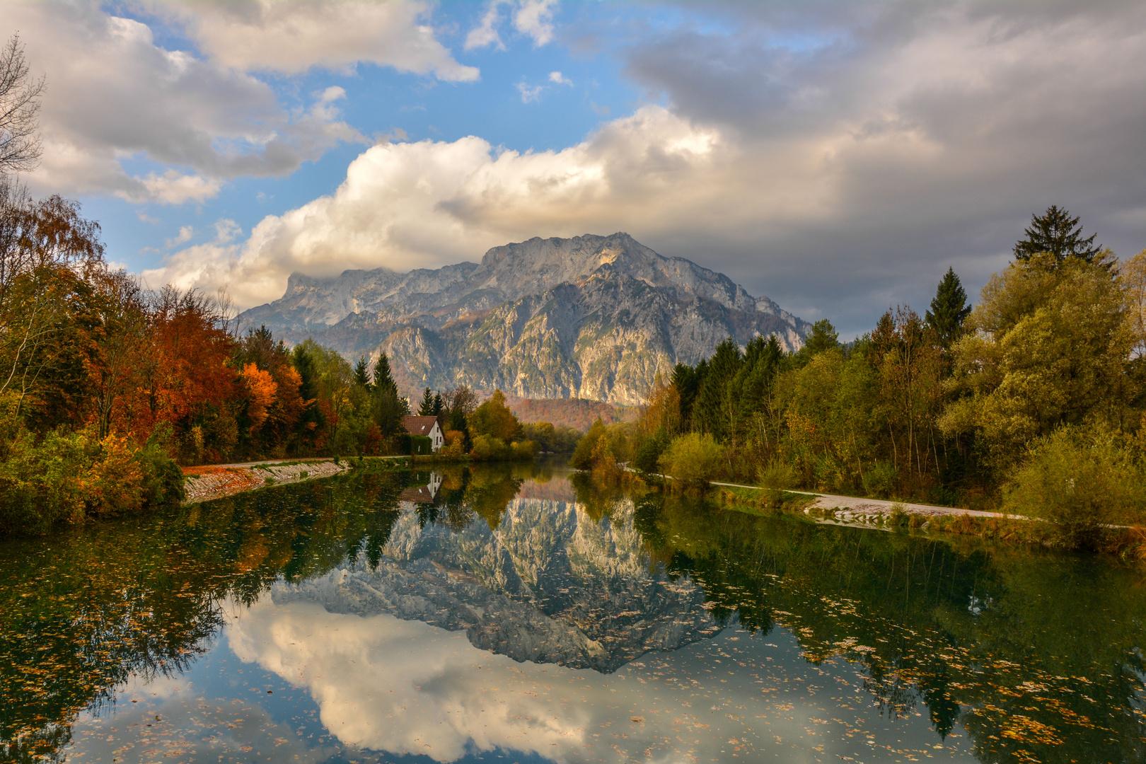 der Untersberg im Herbst