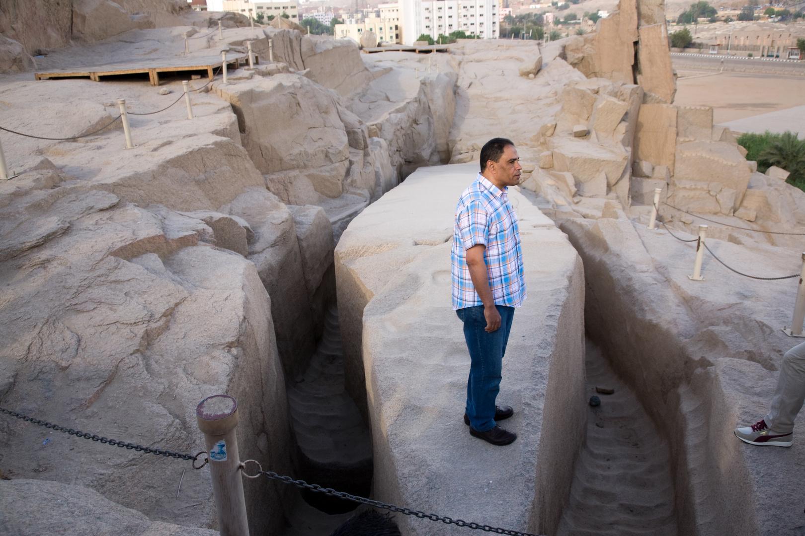 Der unvollendete Obelisk (41m hoch 1168 Tonnen Gewicht)
