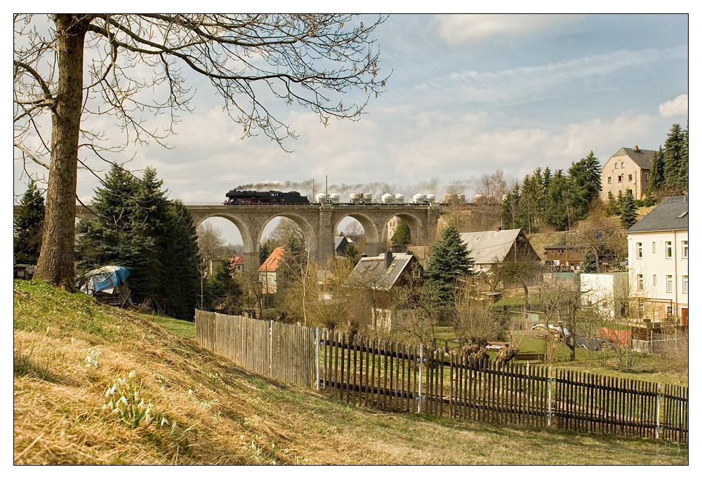 Der Viadukt in Colmnitz ...