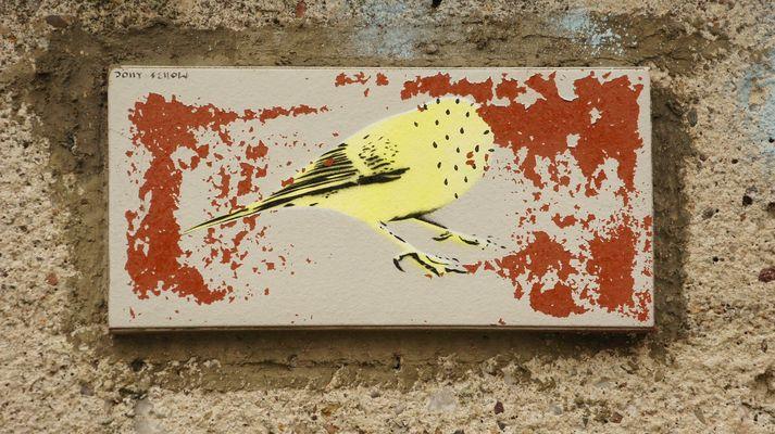 Der Vogel an der Thomaskirche
