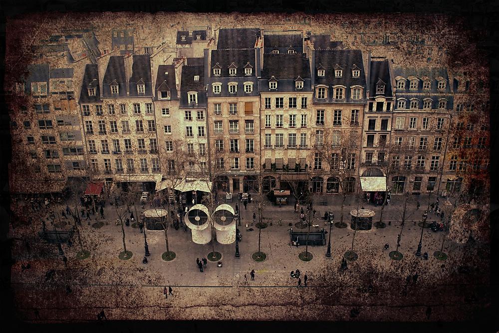 der Vorplatz am Centre Pompidou - Paris