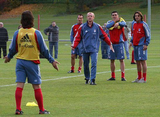 Der Votograf beim gestrigen FC Bayern Training