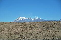 Der Vulkan Sabancaya (5976m) vom Patapampa-Pass (4900m)