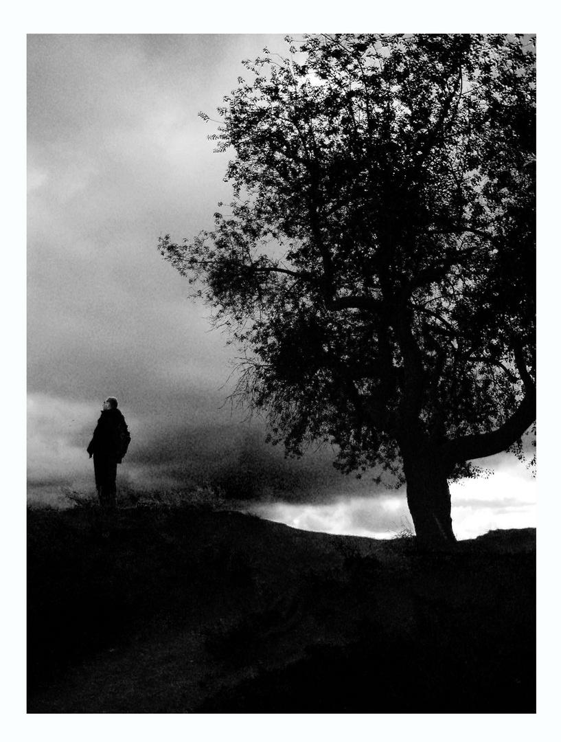 Der Wanderer frei nach Caspar David Friedrich
