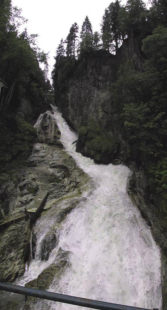 Der Wasserfall in Badgastein (Blick nach oben)