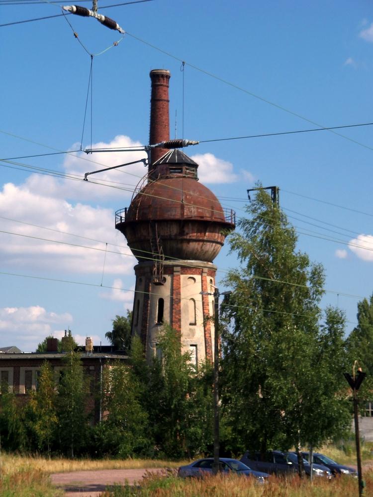 Der Wasserturm am Bahnhof Köthen