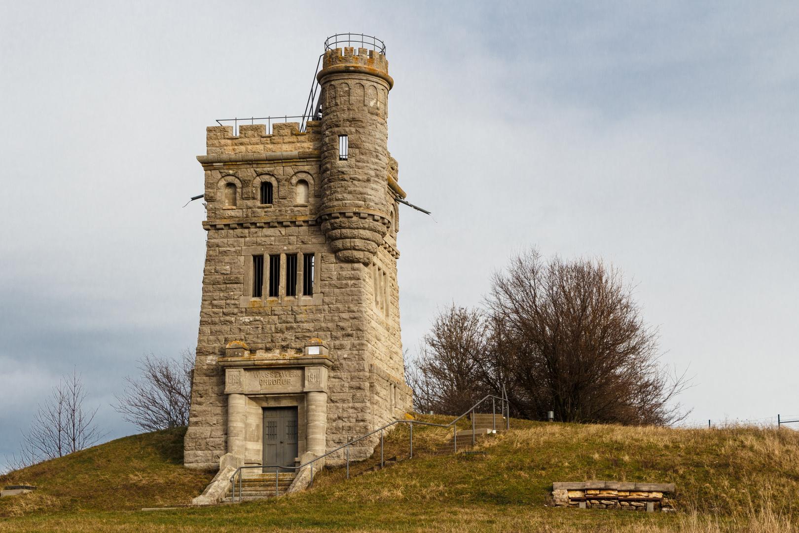 Der Wasserturm auf dem Goldberg in Ohrdruf
