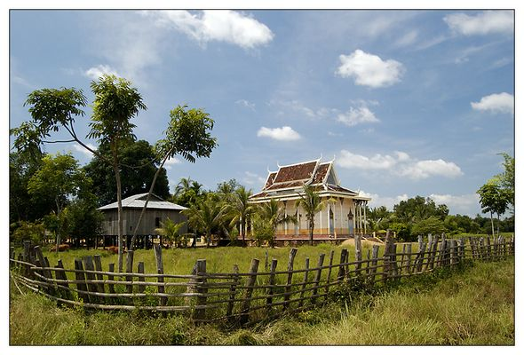 Der Wat in Lumphat - Ratanakiri, Kambodscha