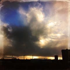 Der Weg der Wolken ist wie das Leben was da drunter ist...