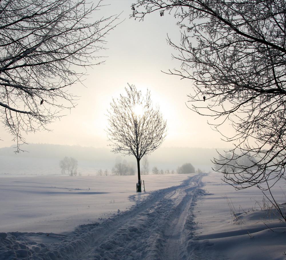 Der Weg führt ins Weiße