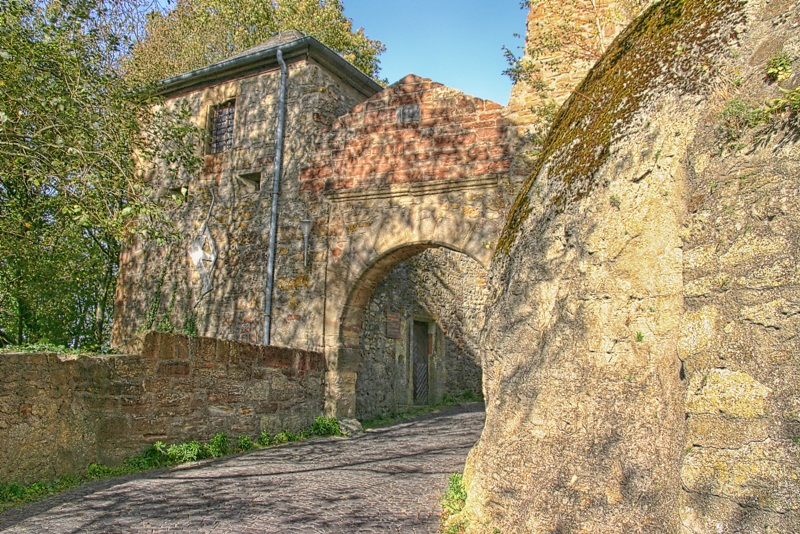 Der Weg zum Schloß Waldeck