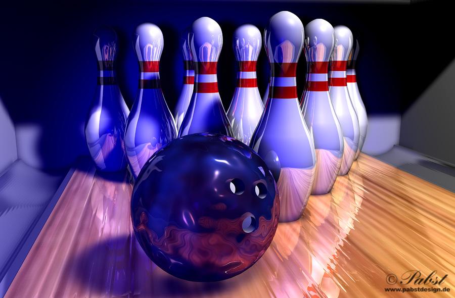 Der Weg zum Strike - Bowlingszene