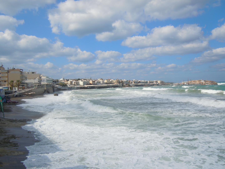 Der weggespülte Strand von Herronissos