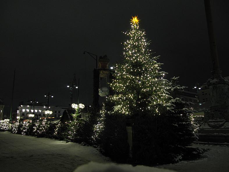 Der Weihnachtsmarkt schläft