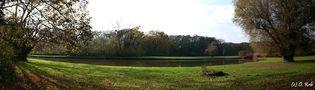 ... der weitläufige Schlosspark des Harrachschen Schlosses in Rohrau ... von Otto Krb