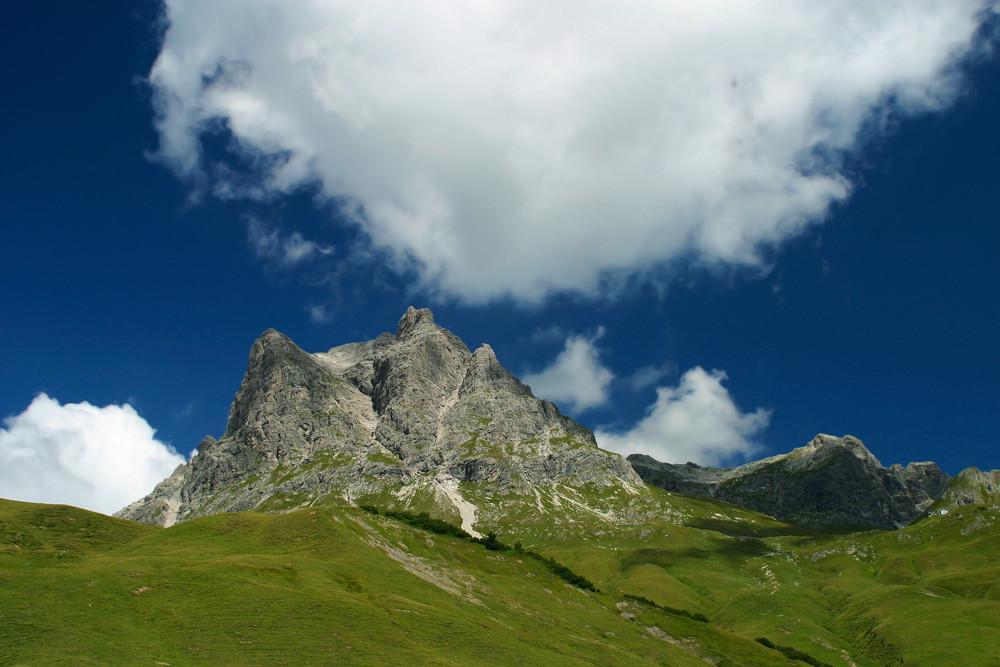Der Widderstein am Hochtannenbergpass