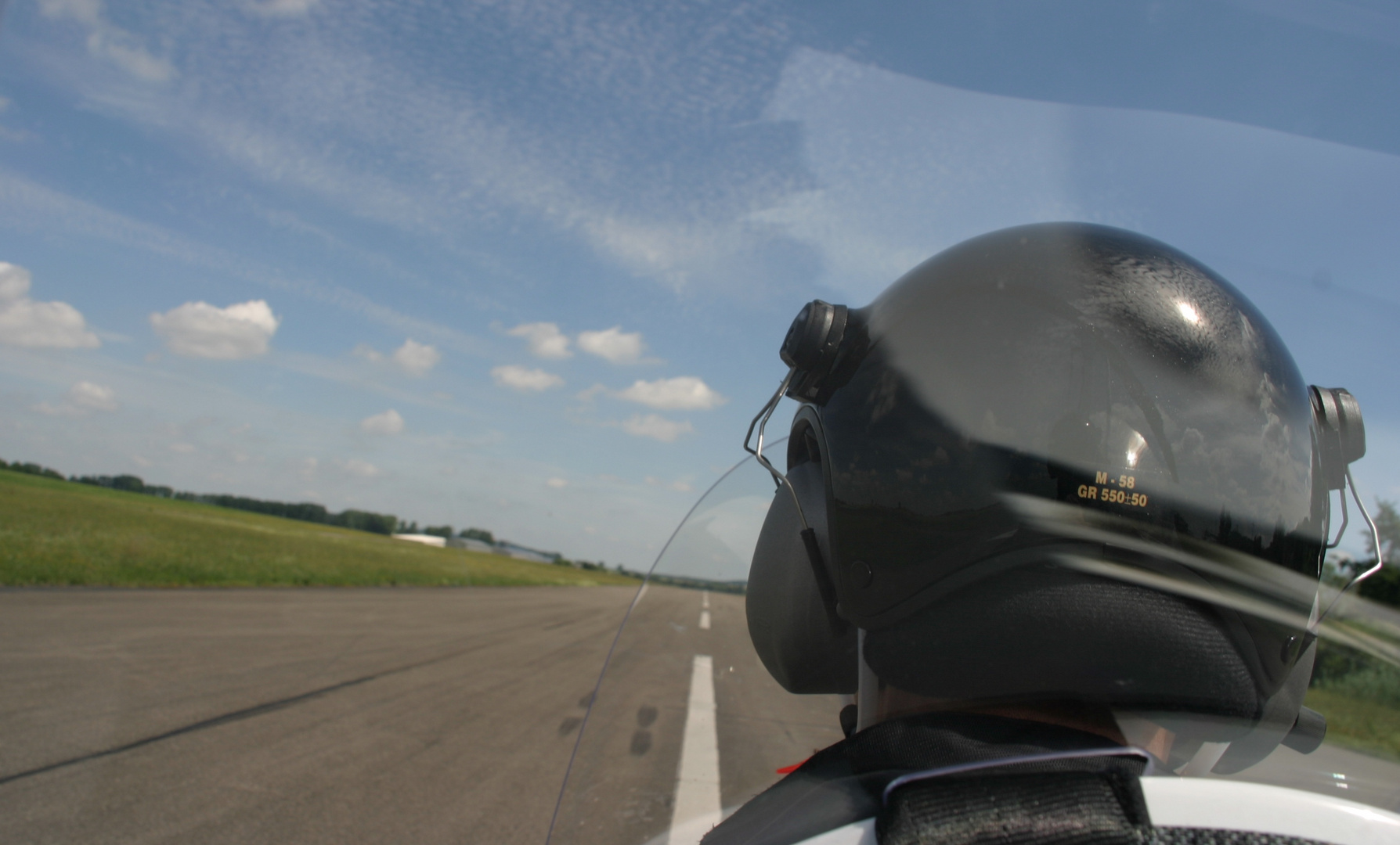 Der Wind an deinem Helm