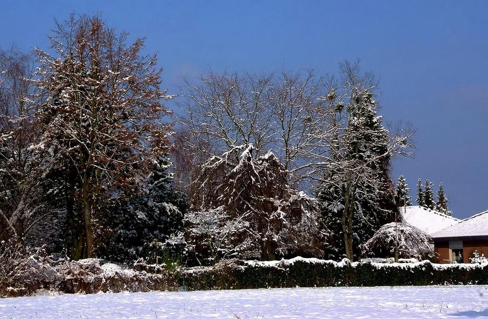 Der Winter hinterm Haus ...
