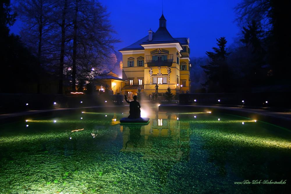 Der winterliche Fischweiher auf Schloss Hellbrunn :)
