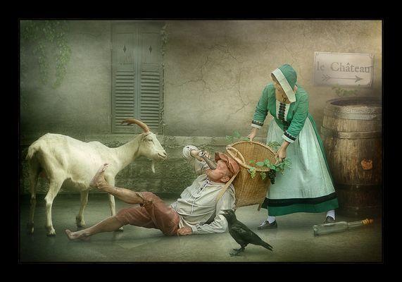 Der Winzer & seine Ziege.