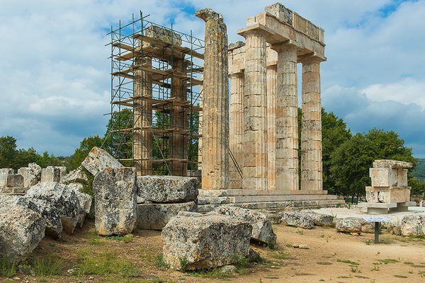 der Zeus-Tempel in Nemea