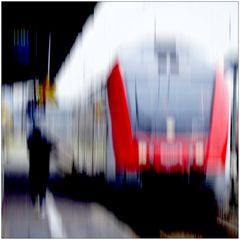 Der zur Bahn läuft