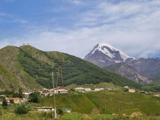 Der zweit höchste Berg Georgiens