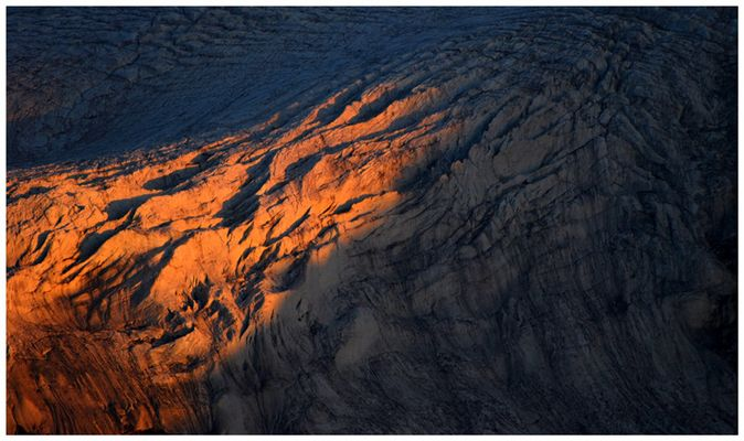 Dernières lueurs sur le Glacier de la Girose
