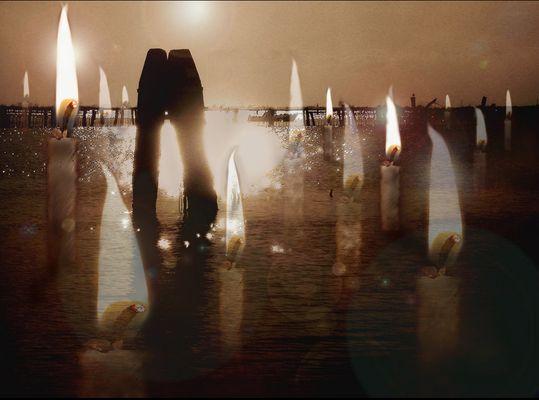 Des bougies sur la lagune