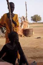 Des jeunes filles à Ngorel près du fleuve Sénégal