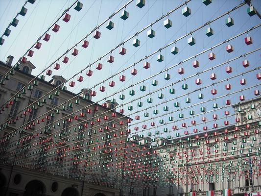 Des lampions aux couleurs de l'Italie