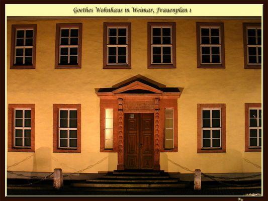 Des Meisters Wohnhaus zur Nacht
