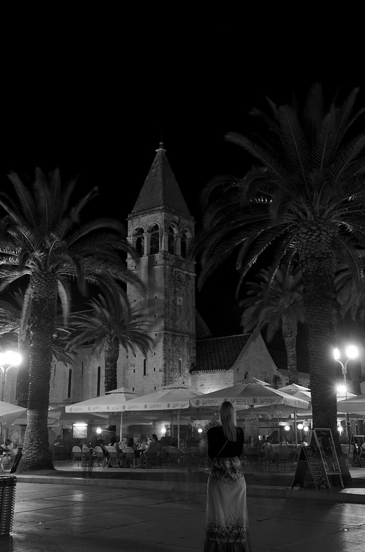 Des Nachts in Trogir