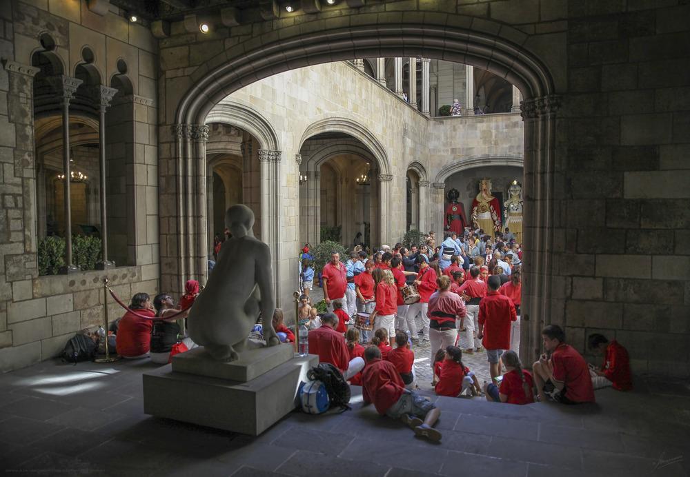 Descanso de Les Colles Castelleres Fiestas de La Mercè 2012 ( Barcelona )