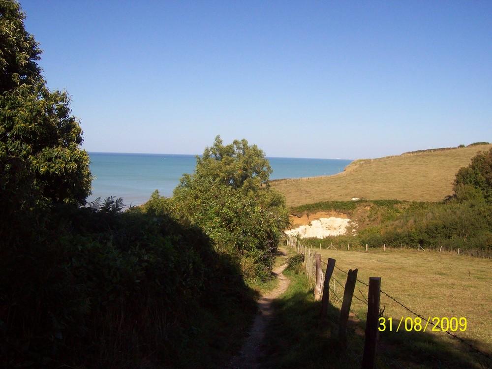 descente sur la plage de vendeville