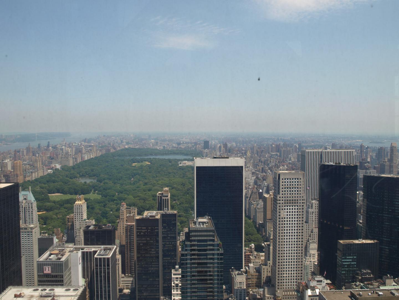 desde el Rockefeller center Central Park