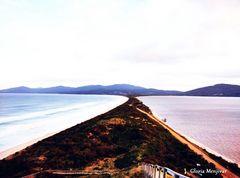 Desde la escalera al cielo, observando la Isla de Bruny.