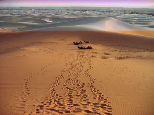 Desert de sable et de neige