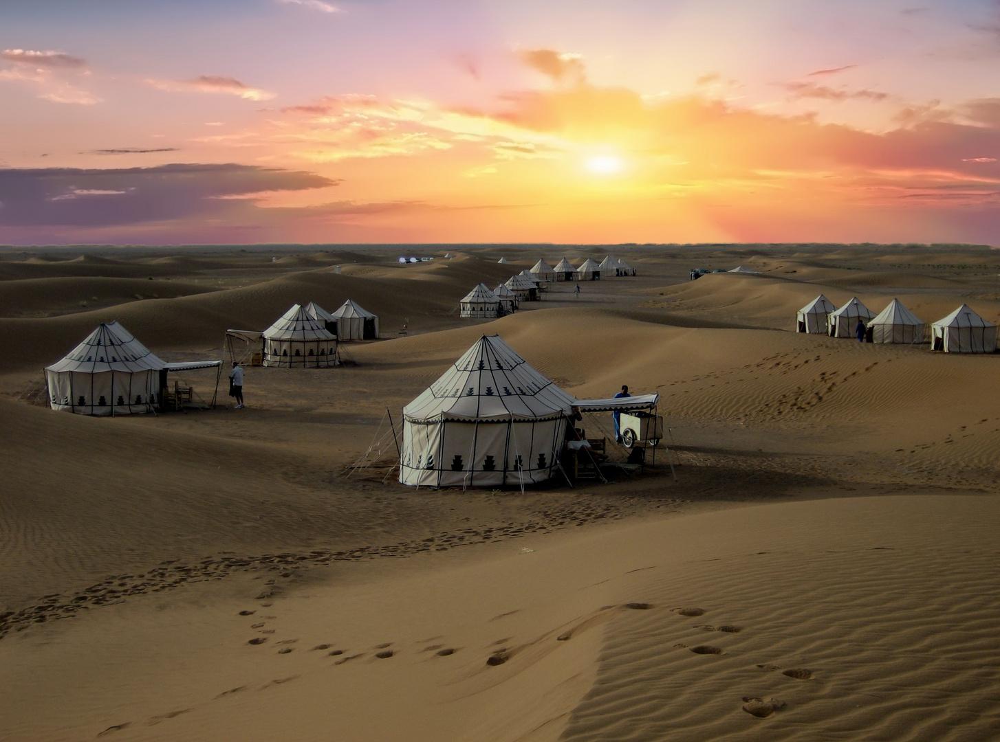 désert illuminé