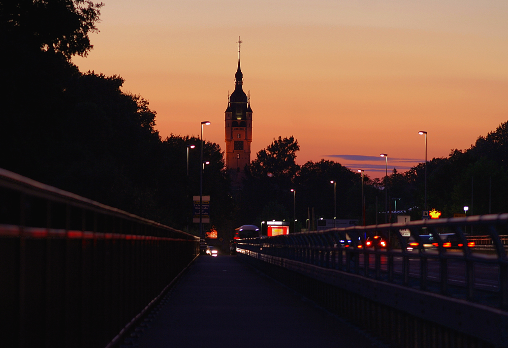 Dessaus Silhouette von der Osteinfahrt